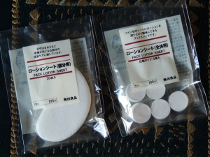 Muji sheetmask supplies