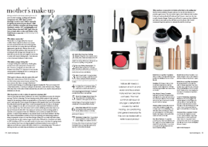 mother's make up article in Inspire Weddings Magazine