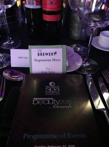 At the Professional Beauty Awards 2015