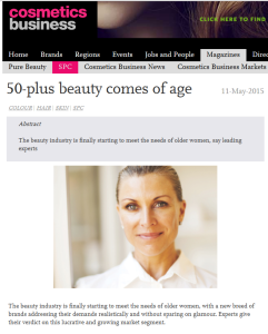 Nikki Taylor in SPC Magazine & on cosmeticsbusiness.com