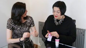 Nikki Taylor and Tracey McAlpine look at Hand Chemistry