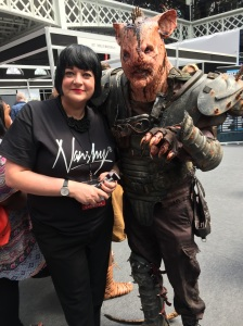 Nikkki Taylor and friend at IMATS London 2015
