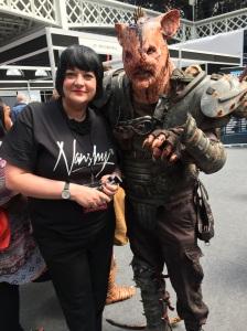 Nikkki Taylor and friend at IMATS London 2015