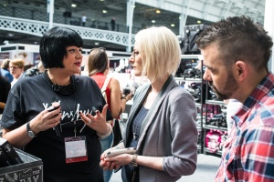 Nikki Taylor representing Nanshy at IMATS London 2015