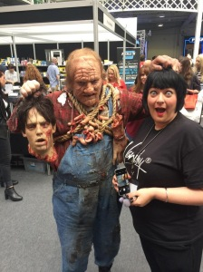 Nikki Taylor has a narrow escape at IMATS London 2015