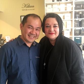 Nikki Taylor with bodhi & birch founder Elijah Choo