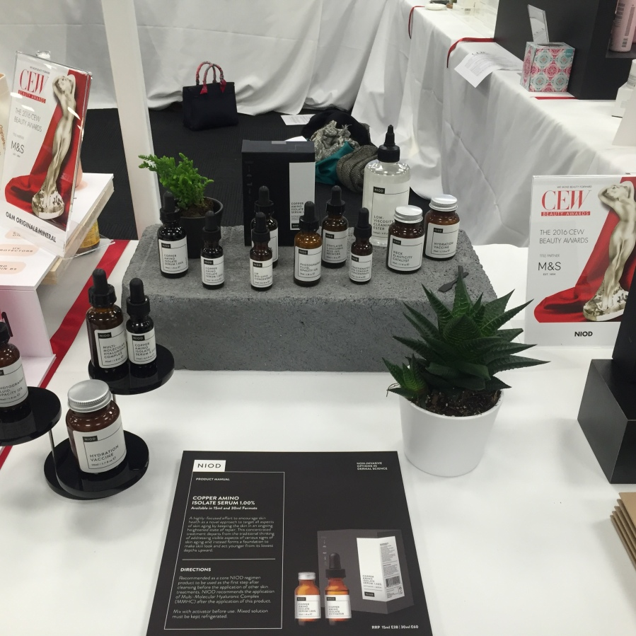 NIOD products in the Best New Brand - Prestige Category at the CEW Product Demonstration Evening