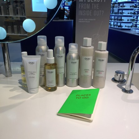 OUAI Haircare testers for training at Selfridges Birmingham