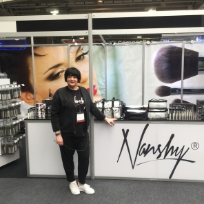 Nikki Taylor representing Nanshy at IMATS London