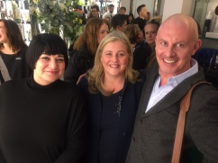 Nikki Taylor and MMCL MD Mark McDonald with Aromatherapy Associates CEO Tracey Woodward