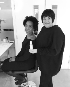 Nikki Taylor demonstrates a new OUAI product