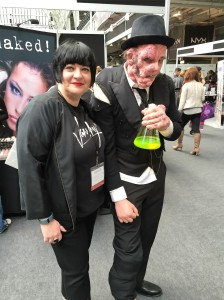Nikki Taylor politely refuses a drink at IMATS London!