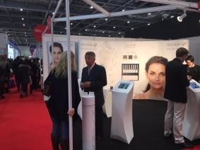 Nikki Taylor representing Skinade at Professional Beauty