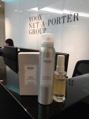 Nikki Taylor trains the Net-A-Porter HQ team in OUAI Haircare