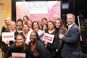 Nikki Taylor with brand founder Laura Geller and her US and UK teams