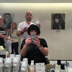 Nikki Taylor at the Hershesons OUAI Haircare pop-up