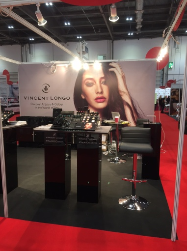 A view of the Vincent Longo Cosmetics stand at Professional Beauty