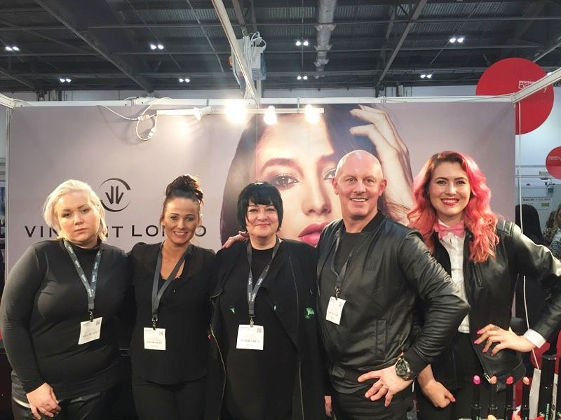 Nikki Taylor and Team MMCL with Vincent Longo Cosmetics Director of Style & Artistry Tiffany Kissler