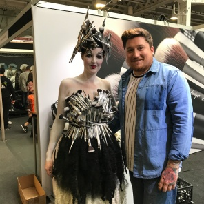 Joey Bevan with his character for Nanshy at IMATS