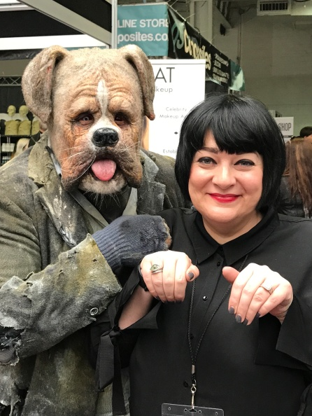 Nikki Taylor with a character created by Dan Frye at IMATS