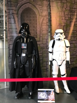 Star Wars costumes on display in the Makeup Museum at IMATS