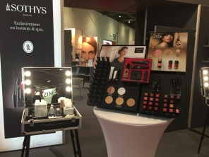 Detail of the capsule make-up collection and new season collection on the Sothys stand at Professional Beauty London 2015