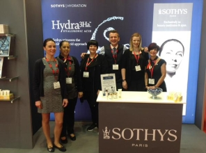 Nikki Taylor with the Sothys team at Professional Beauty North 2015