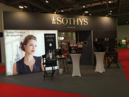View of the Sothys make-up stand at Professional Beauty London 2015