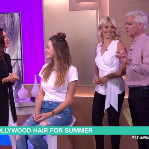 Jen Atkin live on This Morning on ITV with the co-hosts