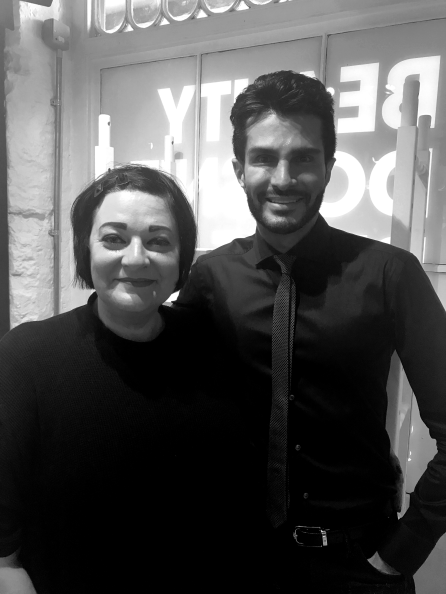 Nikki Taylor with Brandon Truaxe the founder and WORKER of Deciem