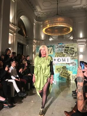 Debbie Harry walking for Vin + Omi