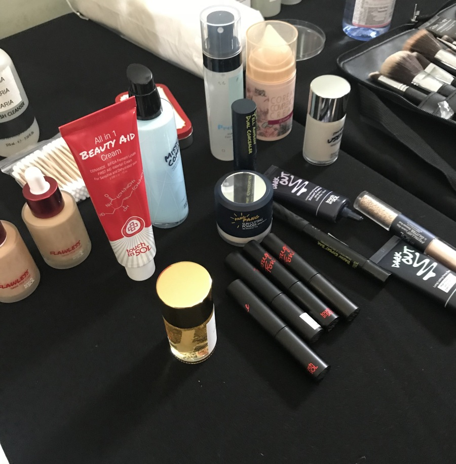 Touch in SOL makeup station backstage