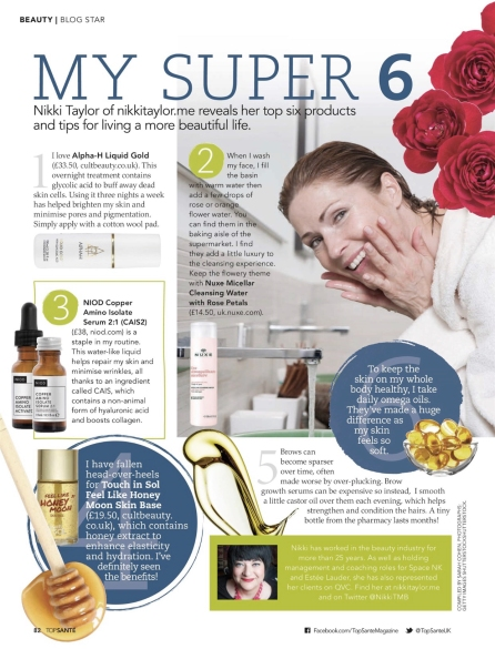 Nikki Taylor in Top Santé (UK) Magazine March 2018