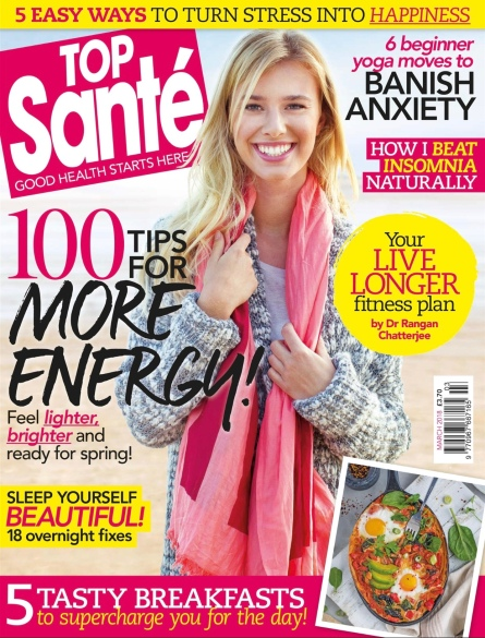 Top Santé (UK) Magazine March 2018 Cover
