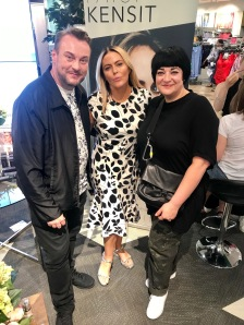 Nikki Taylor with Patsy Kensit and makeup artist Paul Herrington
