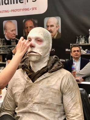 Lucy Sibbick at work at IMATS