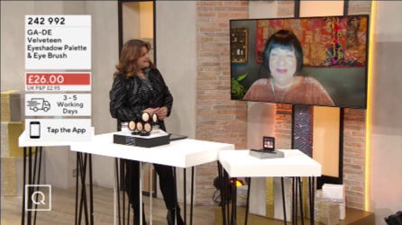 Nikki Taylor with Debbie Flint on QVC TV
