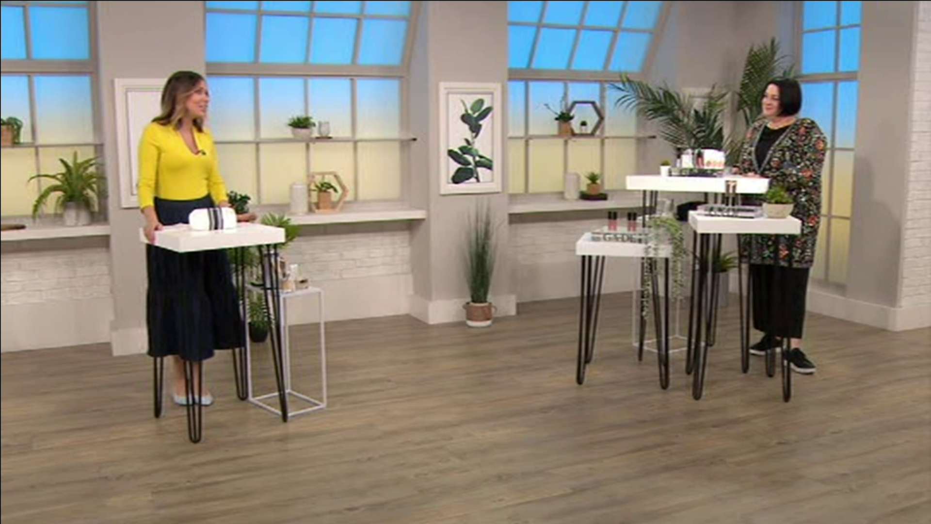 Nikki Taylor with Alex Kramer on QVC TV