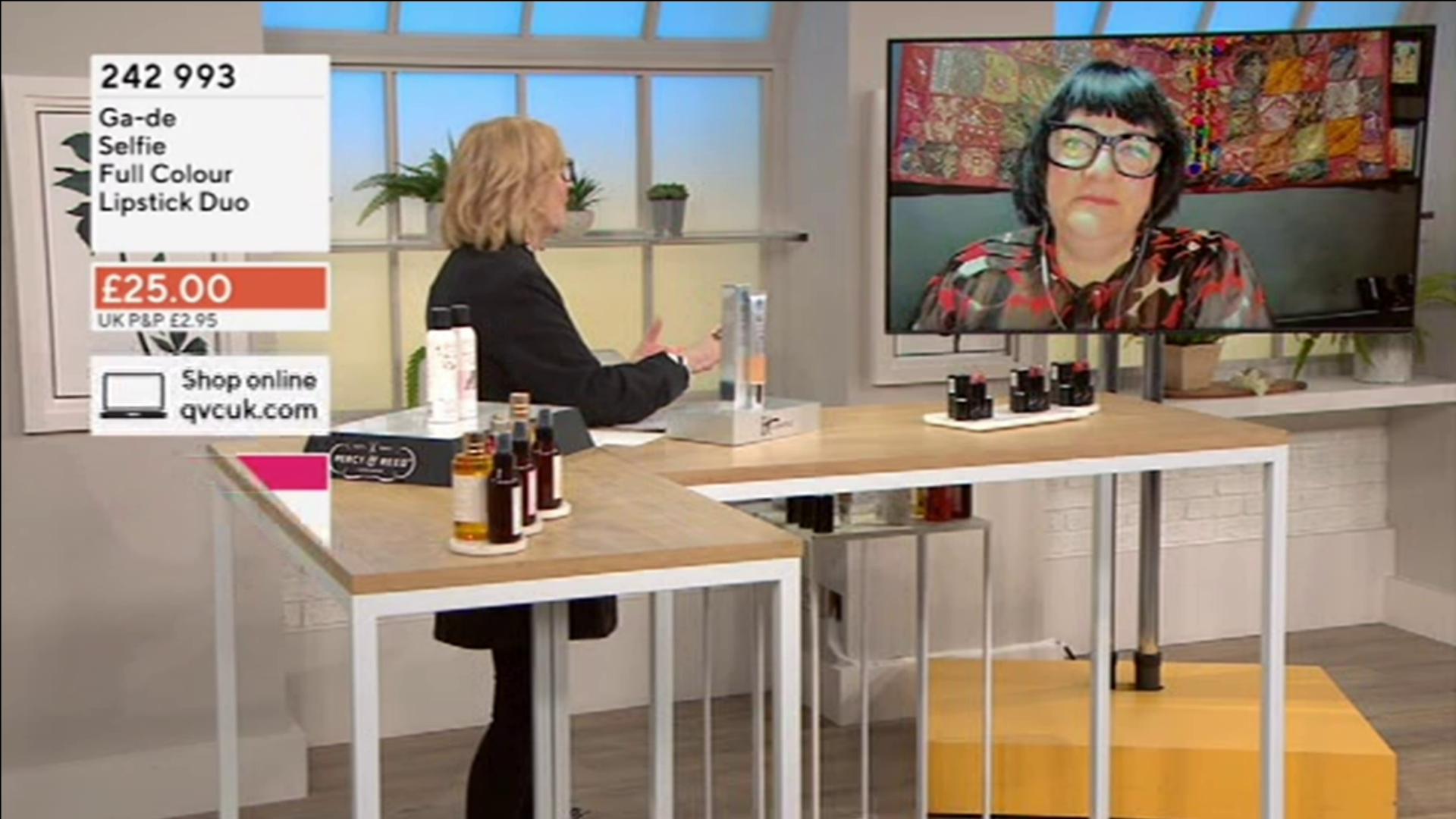 Nikki Taylor with Anne Dawson on QVC UK